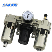 AC3000-03 AC3000-03D G3/8'' Automatic Drain Type Air Source Treatment Unit Pneumatic Lubricator+Filter+Regulator стоимость