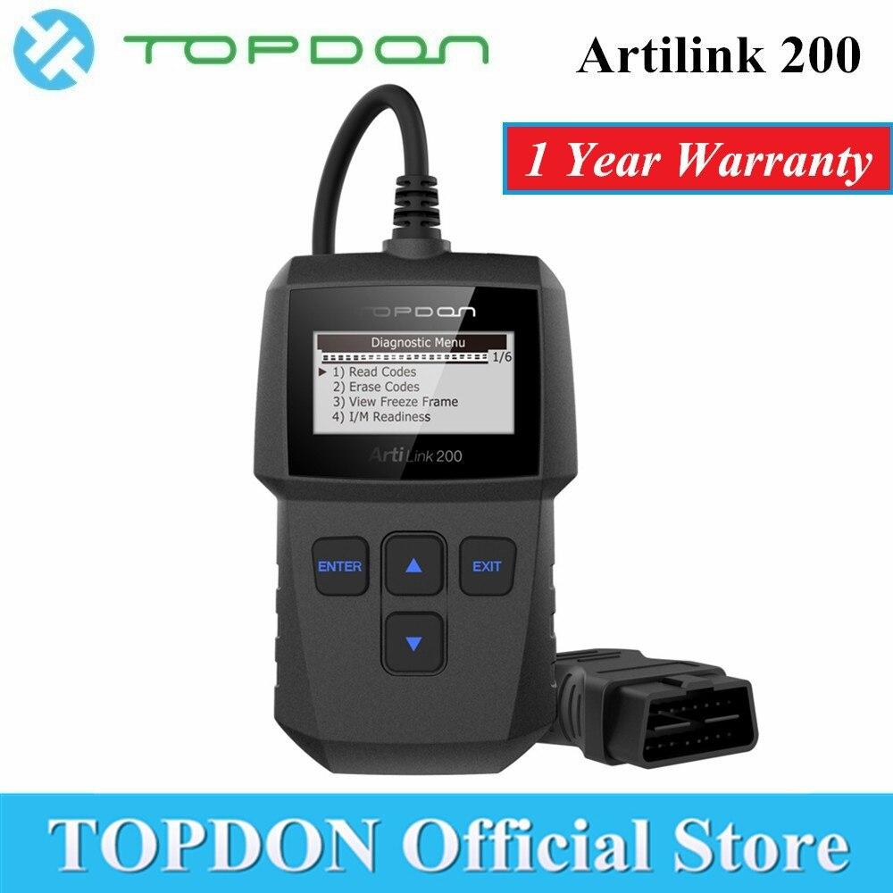 TOPDON ArtiLink 200 Automotive Diagnostic Tool Auto OBDII OBD2 Scanner Mechaniker Autoscanner für OBD 2 II Auto X431 Creader 3001