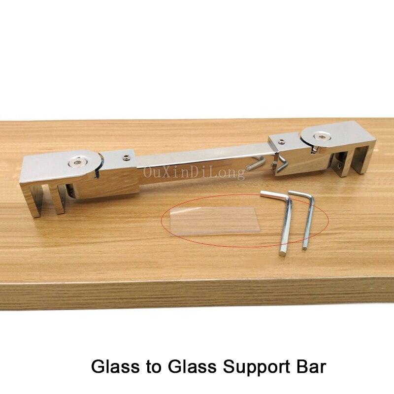 1 Stücke Edelstahl Gesamtlänge 400-800mm Glas Zu Glas Bad Dusche Zimmer Glass Festen Unterstützung Bar Jf1814 Neue Sorten Werden Nacheinander Vorgestellt