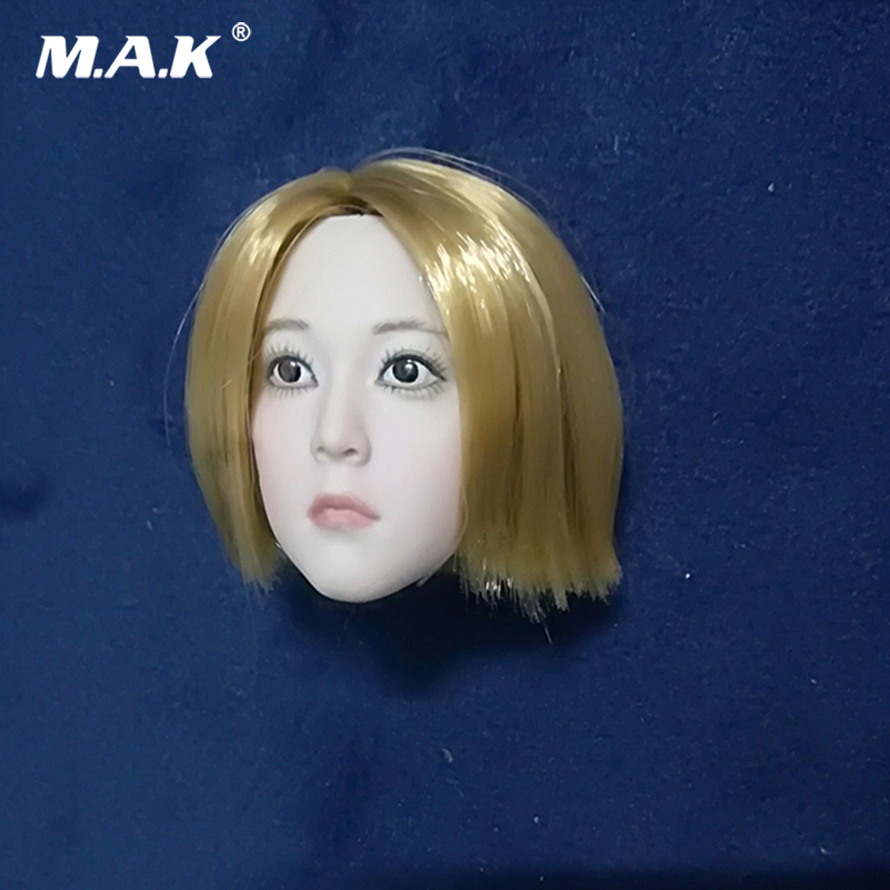 1/6 Scale Girl Head Sculpt Short Hair Baby Face Lori Head Carved Model for 12'' PH Pale Female Action Figure Body цена