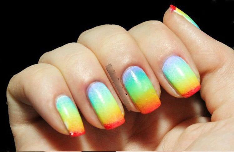 8pcs Grant Nails Soft Sponge For Color Fade Natural Magic