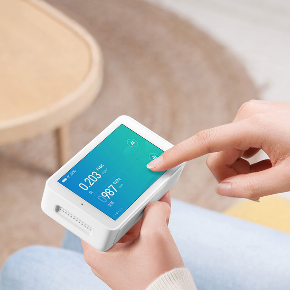 Image 5 - Original Xiaomi Mijia Air Detector High precision Sensing USB Interface 3.97 inch touchscreen humidity sensor PM2.5 tester CO2a-in Smart Remote Control from Consumer Electronics