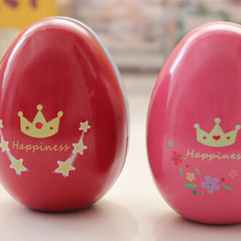 6 pcs/lot Small Egg Shape Metal Box,Fashion Wedding Suppllies Candy Packaging for Baby Birthday Party,Tea Storage Boxes Tin Box Karachi