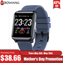2019 Новый монитор сердечного ритма Смарт часы ЭКГ PPG квадратный Smartwatch BOWANG H9 здравоохранения индекс Водонепроницаемый крови Давление Для мужчин W24