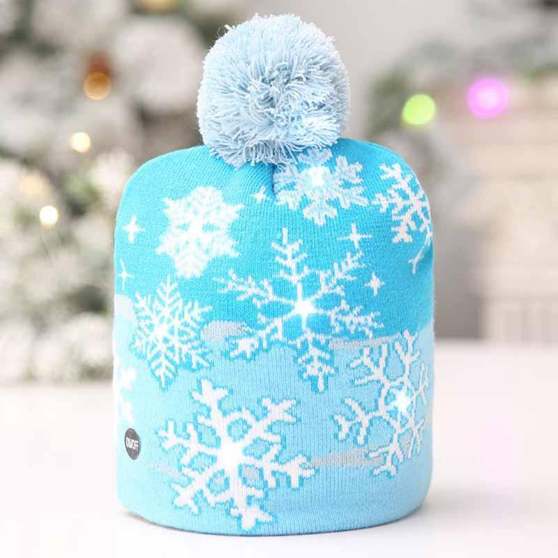 PACK OF 12 Christmas Party Santa Hat w//Light Up X-Mas LED Decal Novelty Favor Gift Bulk