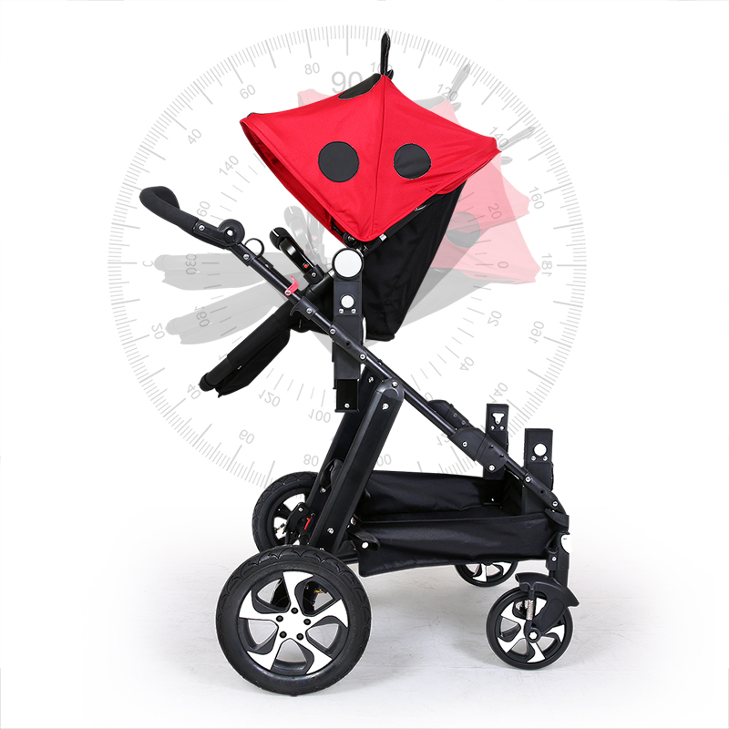 Twin baby car cool version can sit and lying  trolley folding umbrella carts double children's stroller double baby stroller  Multan