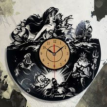 Fashion Design Clock CD Vinyl Record Wall Clock The Little Theme 3D Hanging Watches Duvar Saat