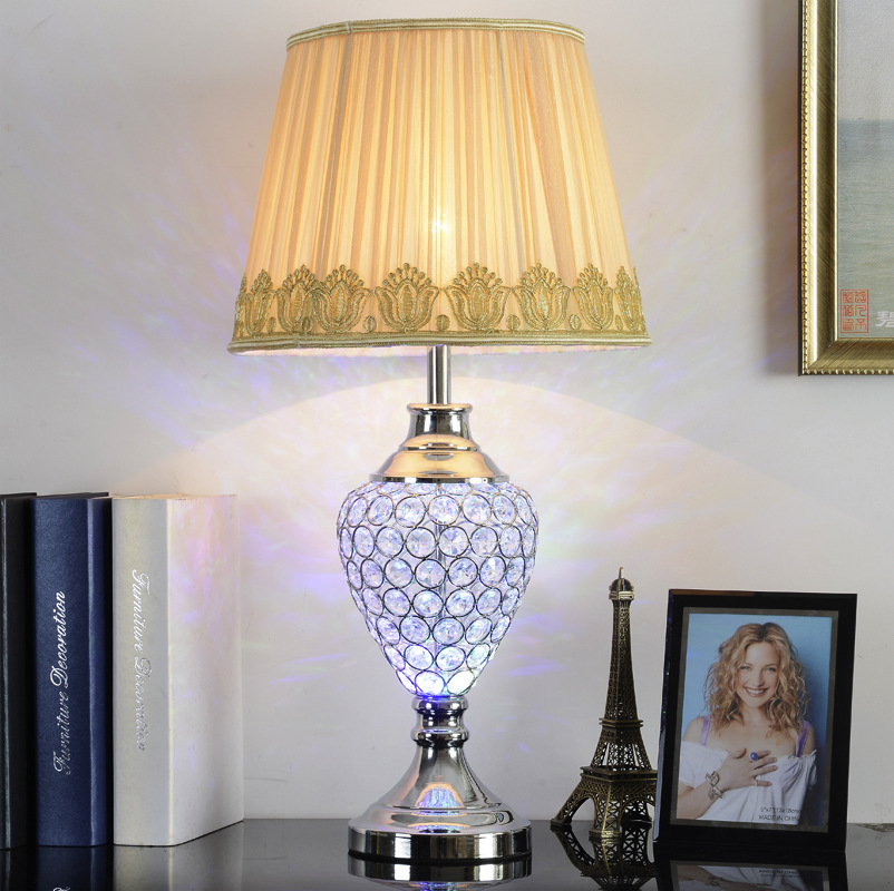 TUDA 33X64cm Free Shipping Crystal Table Lamp For Sitting Room Decorate Table Lamp For Bedroom LED Table Lamp E27 110V-220V