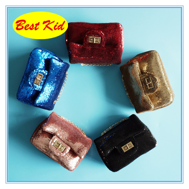 BestKid Stylish Shiny Purse Little Baby Girls Birthday Gifts Toddlers New Bags Children Sequin SMT013D