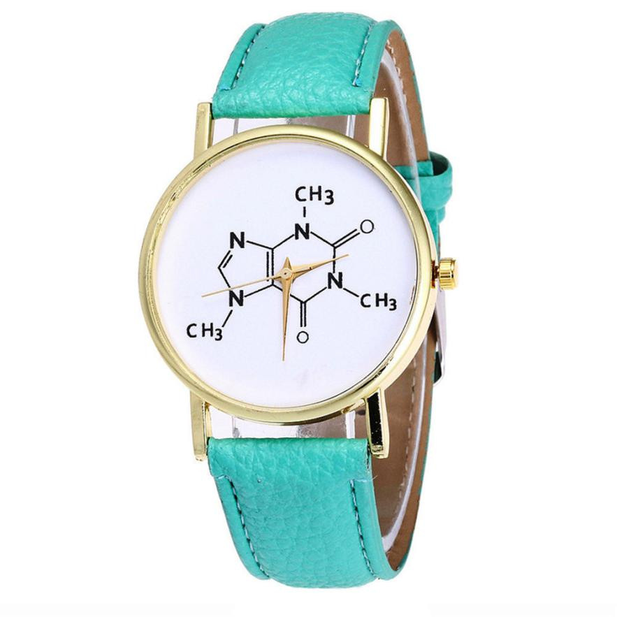 Brand New 2018 Women's Watches Vogue PU Leather Funny Numbers Letters Wrist Watch Women Mens Sports Clock Female Relogio #N lovesky 2016 new arrival women pu leather watch who cares i am late anyway letter watches wrist watch free shipping