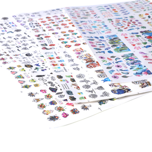 Image 2 - 84 Pcs Mixed Designสติ๊กเกอร์ชุดสติ๊กเกอร์เล็บน้ำโอนDecals Sliderสำหรับเล็บArt Decorกาวเคล็ดลับSABN1129 1212