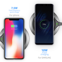 Baseus Metal Age Wireless charger 10W Qi Wireless Charger Desktop Wireless Charging pad for Samsung Galaxy S9 Note 9 iPhone X 8 5