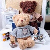 30CM Cute Recording Sweetheart Teddy Bear Stuffed Plush Toys Cotton Material Korean Lovers Teddy Bear Gift For Child boy toys