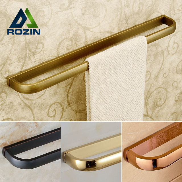 Wall Mounted Bathroom Towel Holders Towel Bars Single Towel Racks Bathroom Accessories 4-style for Choice