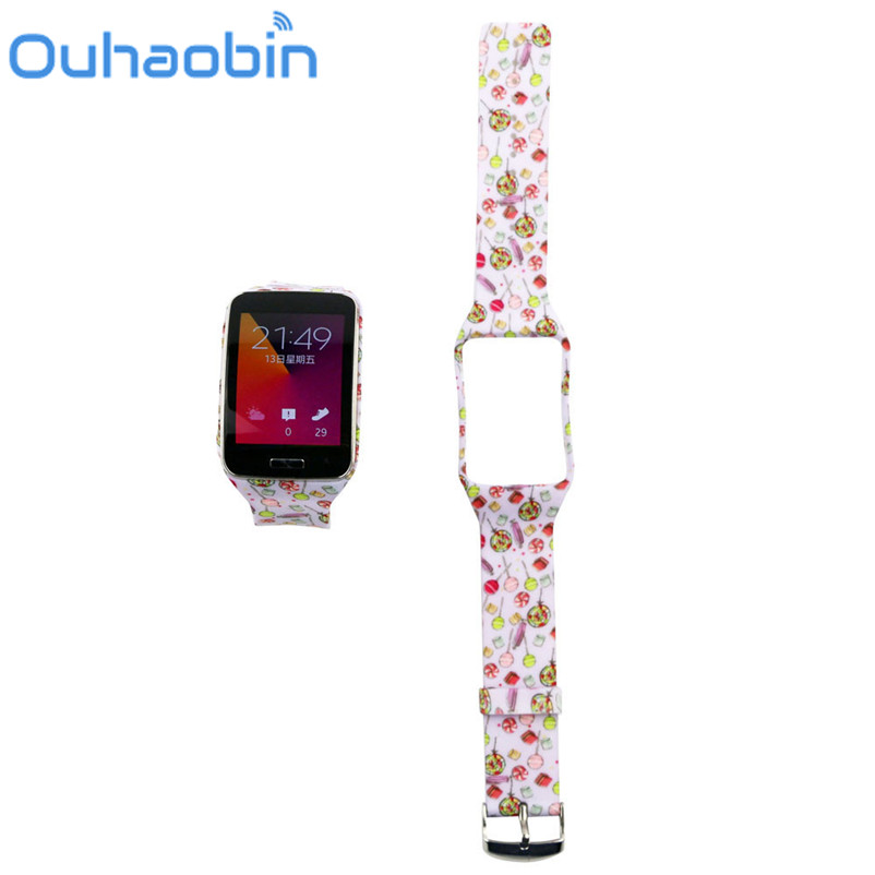 Ouhaobin 25CM Replacement Watch Wrist Strap Wristband for Samsung Galaxy Gear S R750 Oct 19 Dropship
