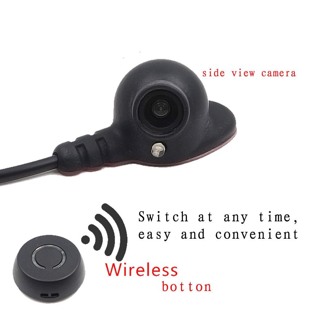 Système de caméra de recul de stationnement pour angle mort de véhicule système de caméra de recul pour voiture commutateur de bouton sans fil Vision nocturne vidéo à trois voies