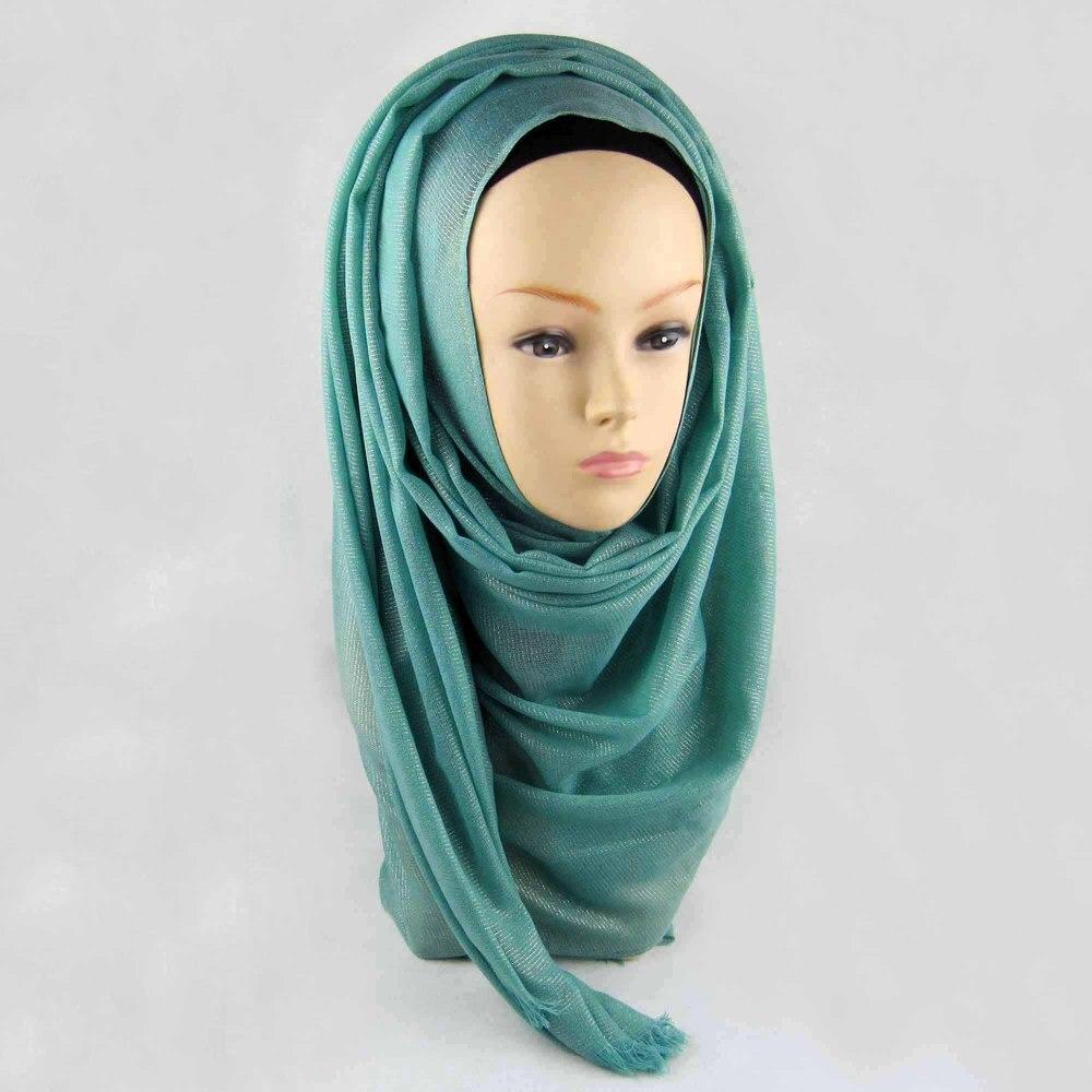 Мусульманский хиджаб мерцание шарф хиджабы блестящий шарфы мерцающий шаль, можете выбрать цвет - Цвет: color4