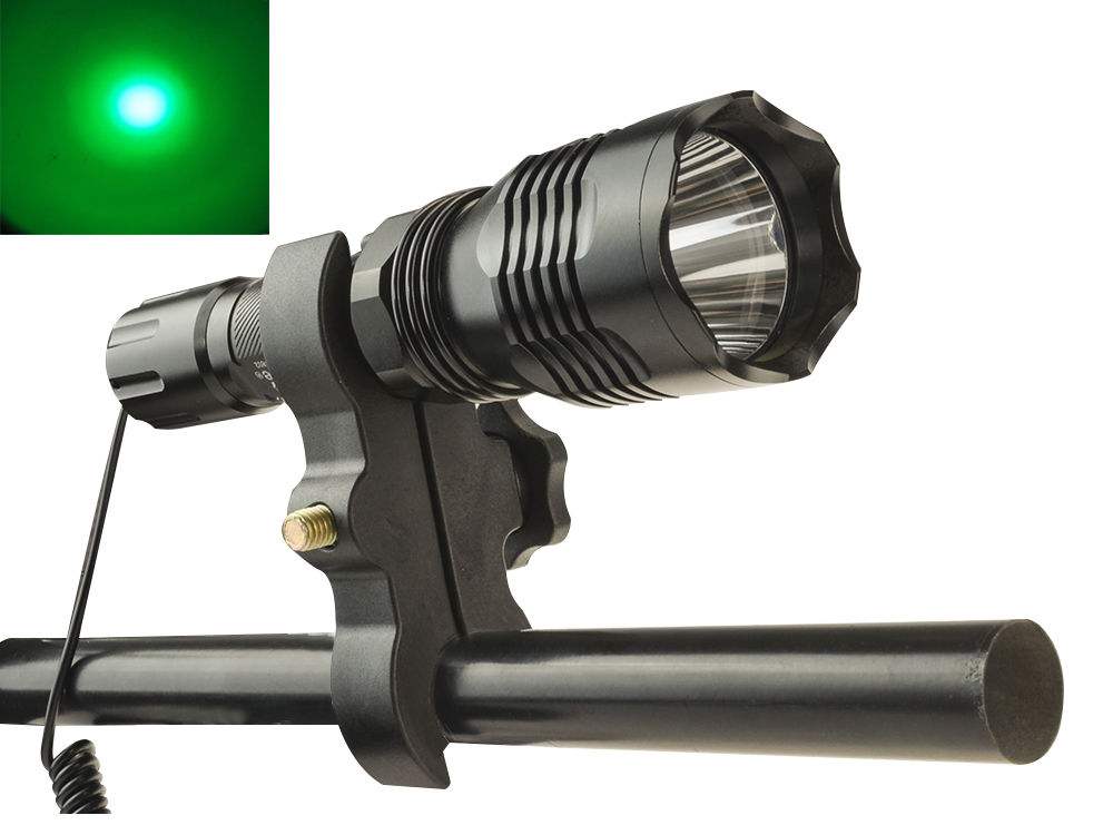 Hunting LED Flashlight Green Light 300 Ms