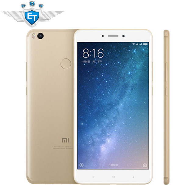 "Оригинал Сяо Mi Max 2 мобильный телефон 4 ГБ Оперативная память 64 ГБ Phablet SNA P Дракон 625 Octa core 6.44 ""1080 p 12.0MP IMX386 5300 мАч Батарея"