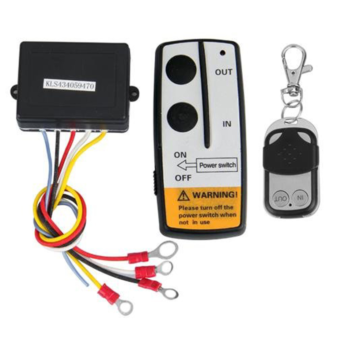 universal wireless winch remote control kit 12v 50ft 2 remotes with indicator light car detector for truck jeep atv suv [ 1100 x 1100 Pixel ]