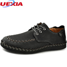 UEXIA Men s Shoe Black Hand-sewn Leather Business Slip On Formal Oxford  Dress Elevator Shoes For Men Breathable Casual Moccasins 255e1406c9dd
