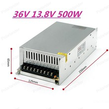 500W 13.8A Switching Power Supply Driver for Monitor camera/LED Strip AC 100~240V Input to DC 36V