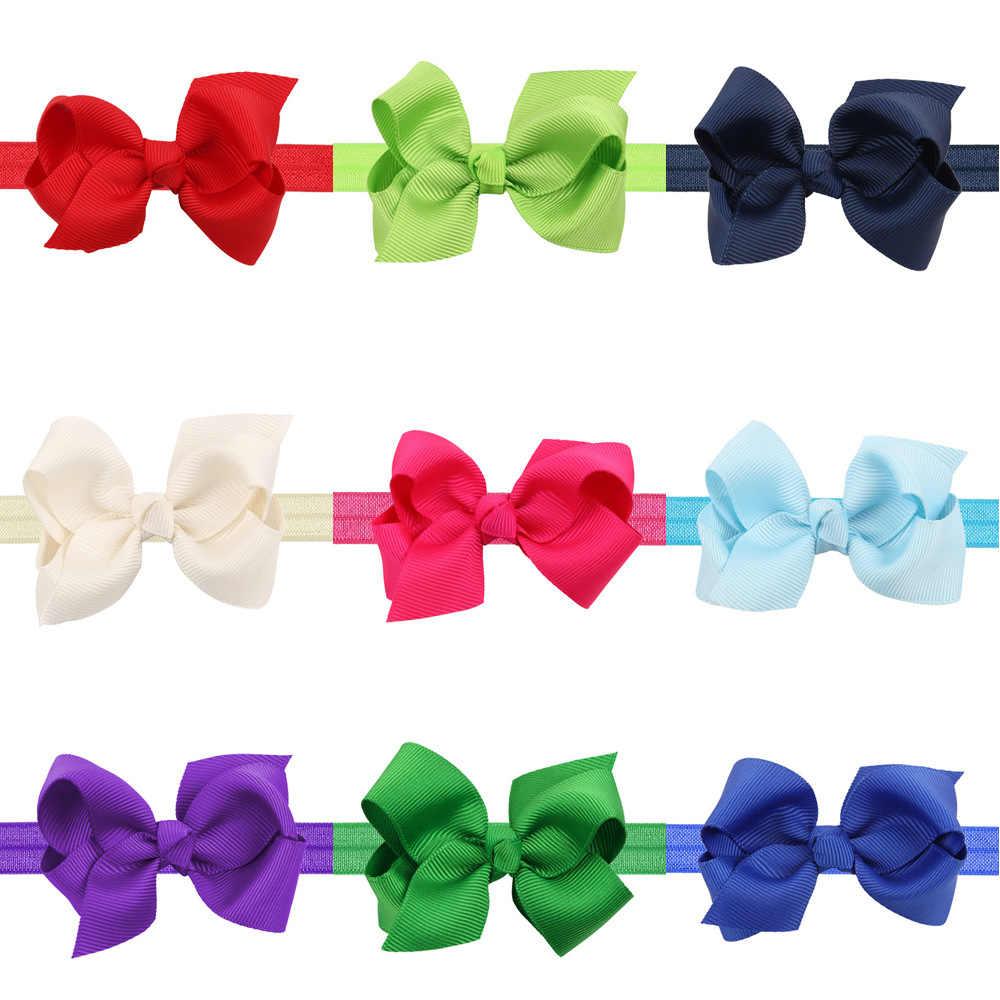 เด็กทารกแถบคาดศีรษะทารก bows ทารกแรกเกิด Headwear tiara headwrap ของขวัญเด็กวัยหัดเดินผ้าพันคอริบบิ้นอุปกรณ์เสริมผมผ้าแถบ