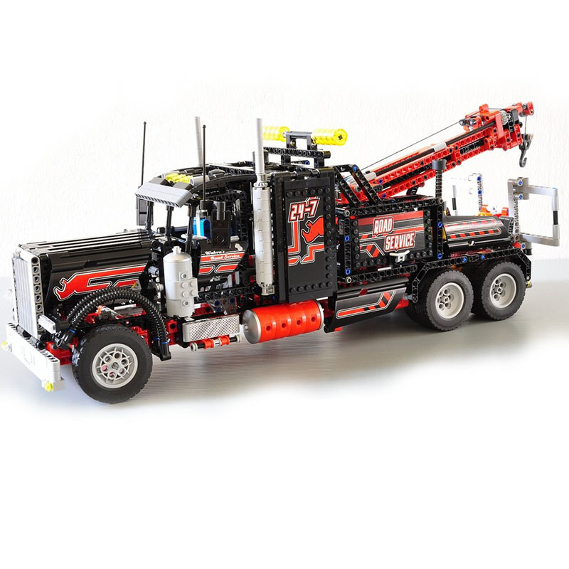 Compatible with Lego Technic 8285 20020 1877pcs American Style Heavy Container Trucks building blocks toys for children lego technic 42031 ремонтный автокран