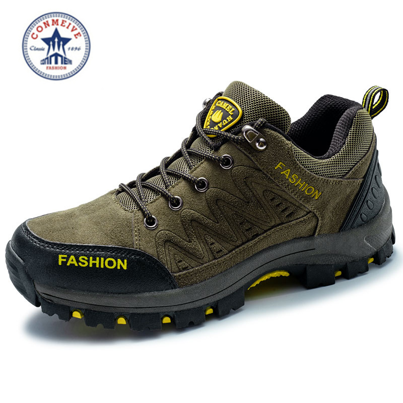 hot sale outdoor hiking shoes trekking camping climbing boots waterproof senderismo hunting Leather  Men Lace-Up Wide(C,D,W) merrto men waterproof leather hiking shoes outdoor trekking boots trail camping climbing high quality outventure hunting shoes
