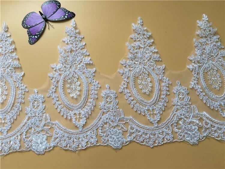 9Yds con cordón apliques de encaje recorte Offwhite blanco puro - Artes, artesanía y costura