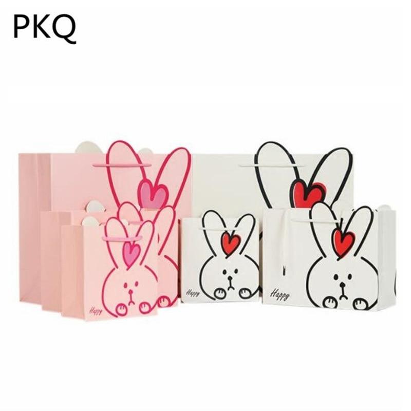 30pcs/lot Cute Long Bunny Rabbit Ears Gift Bags Easter