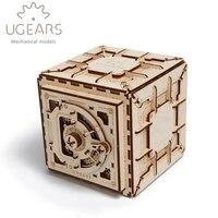 179 шт. DIY деревянный Сейф Механическая Трансмиссия модель сборки головоломки игрушка для креативный подарок