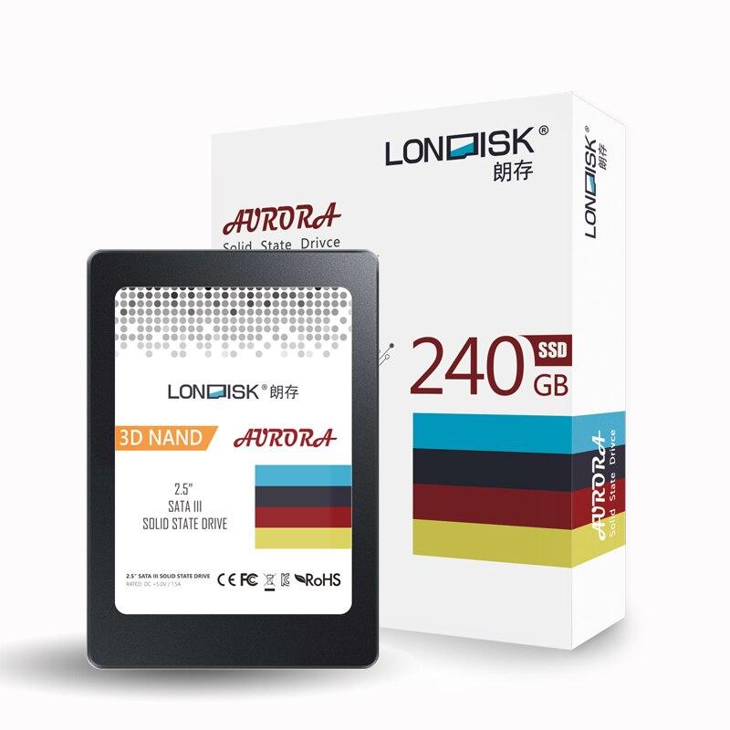 Londisk SSD 240 GB 480 GB SATA hdd ssd disque SSD interne 240 GB disque dur SSD Sata3 2.5 pour ordinateur portable ordinateur de bureau