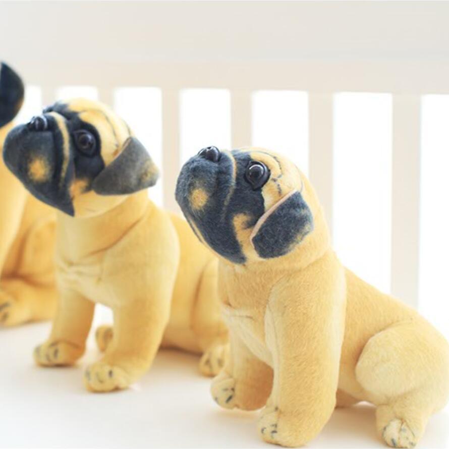 Stuffed Dog Plush Toys Pug Dog Yellow Pug Puppy Dogs Dol Baby Toy
