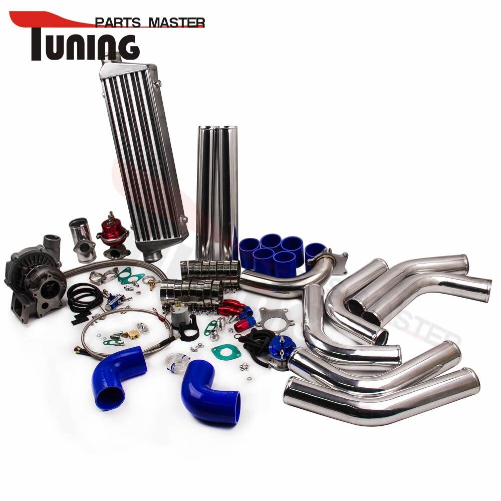T3/T4 T3 T4 T04E Универсальный Turbo Зарядное устройство комплект + WASTEGATE + интеркулера + трубопроводы