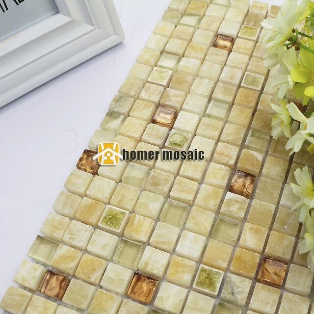 Beige blanc couleur pierre mélangé diamant mosaïque carreaux pour ...