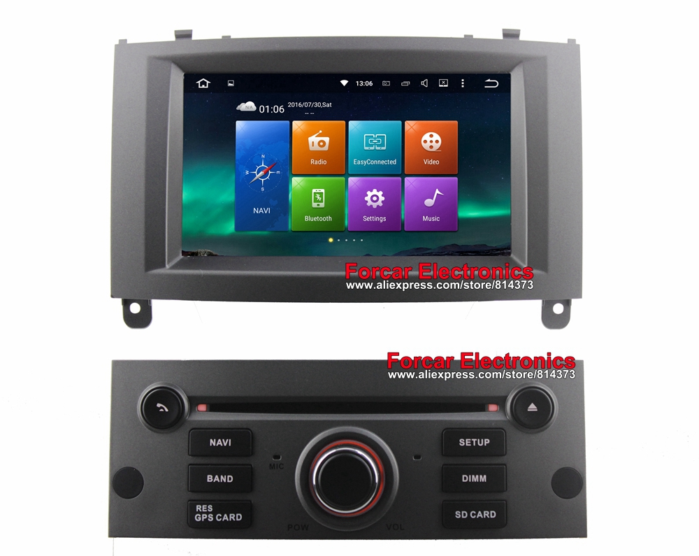 buy 1024x600 android 5 1 car dvd gps for peugeot 407 autoradio gps with bt rds. Black Bedroom Furniture Sets. Home Design Ideas