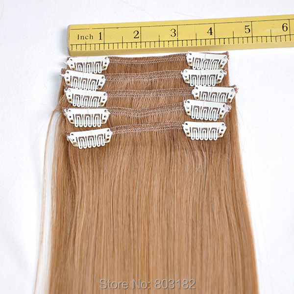 Yotchoi Clip In Sets 27 Honey Blonde Colour 10wefts Clip In Remy