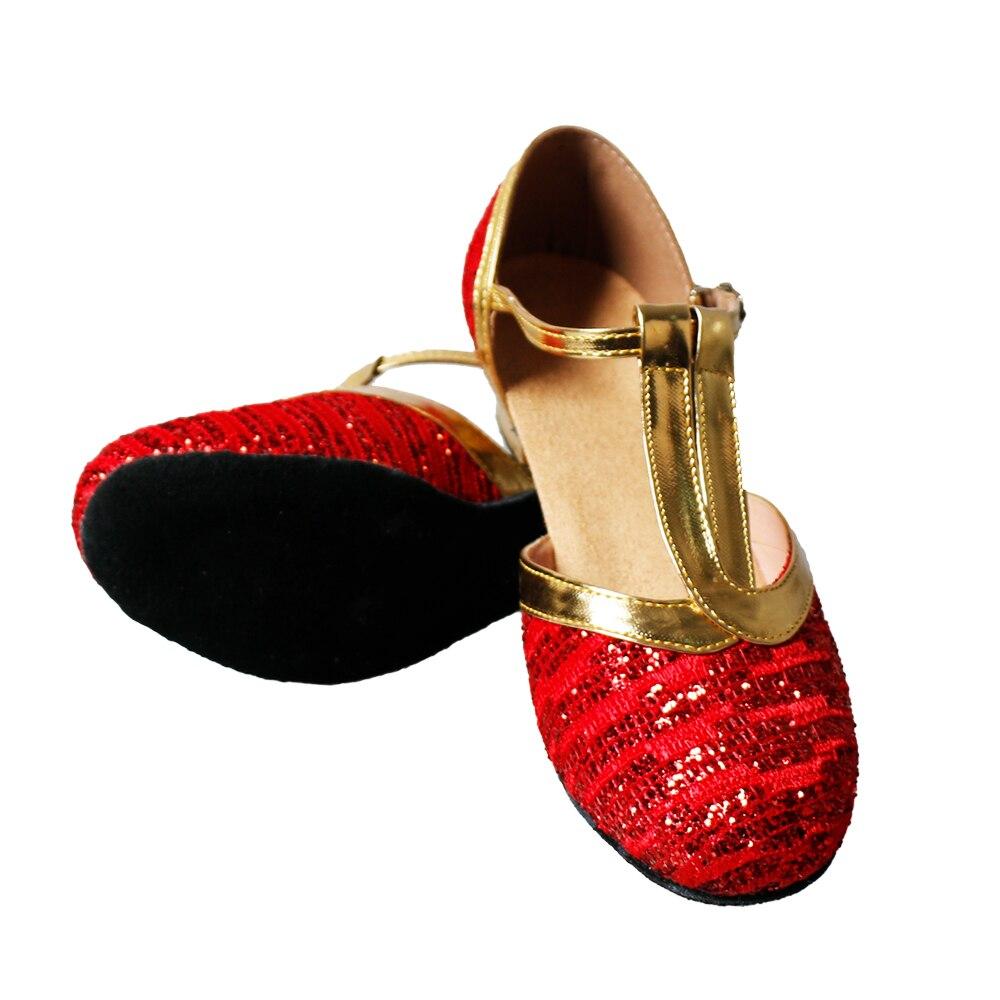 MoveFun Sequins Girls' Dance Shoe New Children Latin Dance