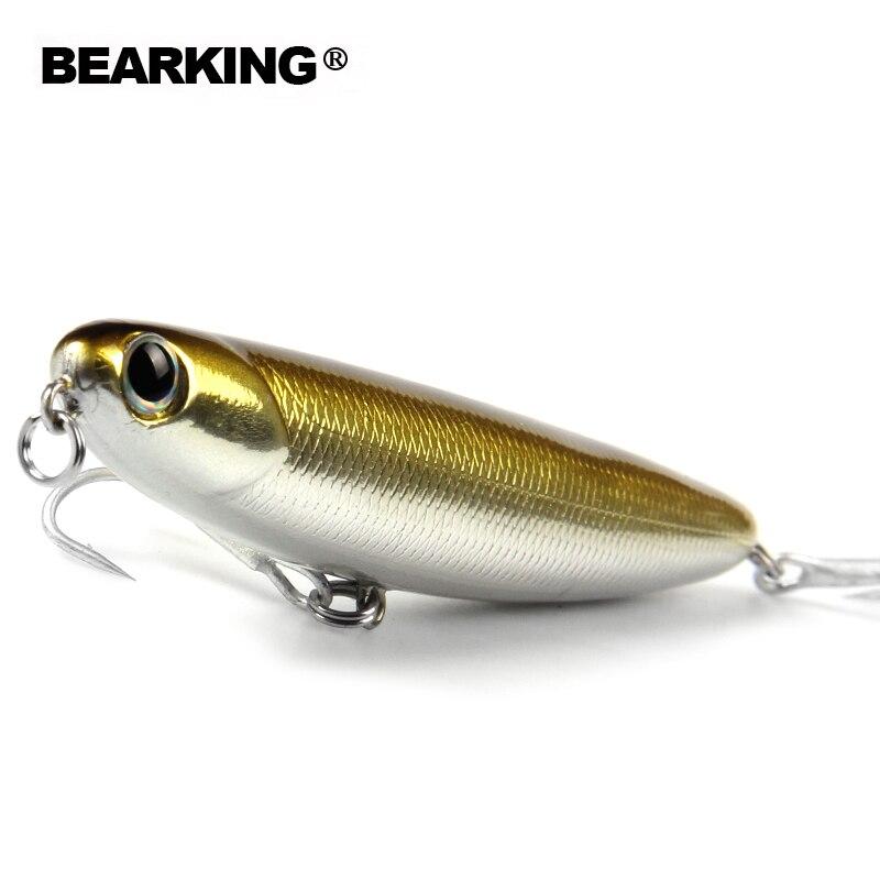 Retail bearking  modelo caliente señuelos de pesca duro cebo de 8 colores para e