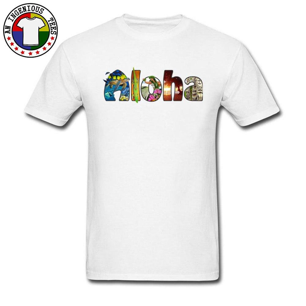 3332c426067ab3 Hawaii Beach Sunshine Aloha Type Print T-Shirt Women Men New Arrival Cotton  Basic Tops   Tees Short Sleeve Customized Tshirt