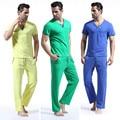 WANGJIANG NEW Fashion patchwork male lounge set cotton sleepwear pajama pants set