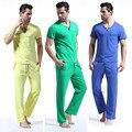 WANGJIANG NOVA Moda patchwork masculino set lounge algodão sleepwear calças de pijama definidos