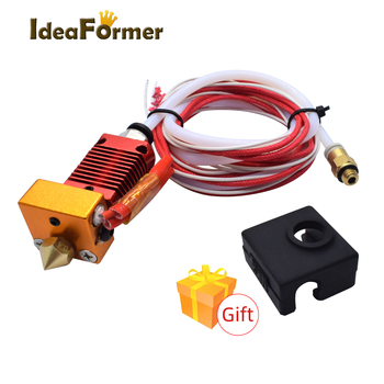1 Set CR10 Extruder Hotend J-head Kit With 0.4/1.75mm Nozzle+ Silicone Cover+1M Teflon tube 12/24V heating kit 3D Printer Parts 3d printer parts cyclops 2 in 1 out 2 colors hotend 0 4 1 75mm 12v 24v fan bowden with titan bulldog extruder multi color nozzle