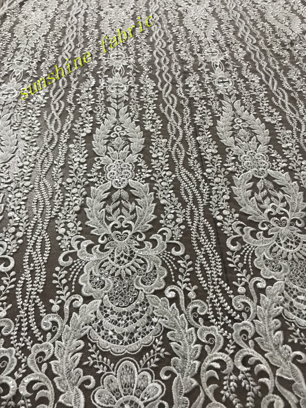 Beaded net tulle mesh nice embroidered french lace for show wedding evening  dress  b3ecb5d5cd61
