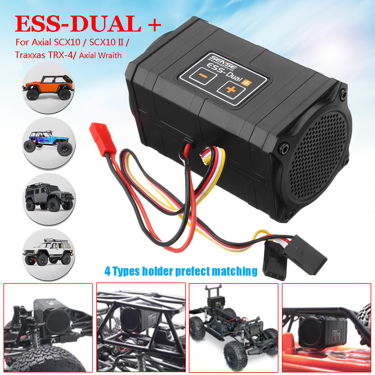 Senso Innovazioni DUAL Più Il Suono del Motore Simulatore Per Axial SCX10 II TRX-4 Parts & Acc RC/PIÙ App Firmware aggiornamento
