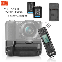 Meike MK A6300 Pro Battery Grip Holder Builtin 2.4G Wireless Remote Control Dress for Sony A6000 A6300 Work with NP FW50 Battery