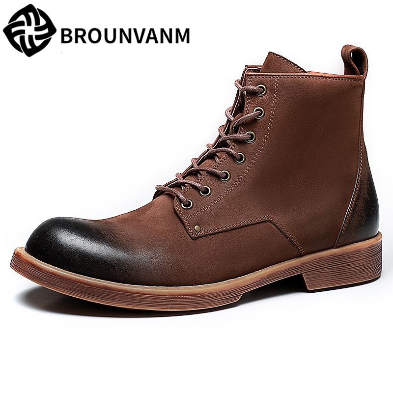 все цены на Martin Boots men autumn winter British retro all-match cowhide mens combat boots Chelsea boots military boots Genuine Leather