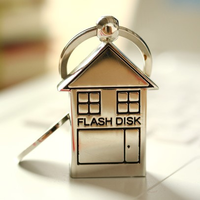 Cute Metal House Memoria USB 3.0 Flash Drive 16GB Memory Stick Cle Usb Stick 32GB 64GB Pendrive 1TB 2TB Pen Driver 128GB Gift