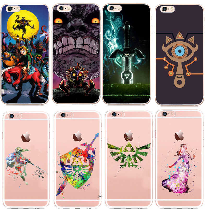 seracase The Legend Of Zeldas Coque Phone Shell Case For IPhone 8 8Plus  7Plus 6 6SPlus 5S SE X Soft silicone Cute Cartoon Cover